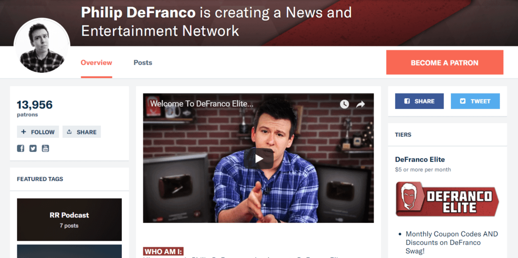 Phil Defranco Patreon