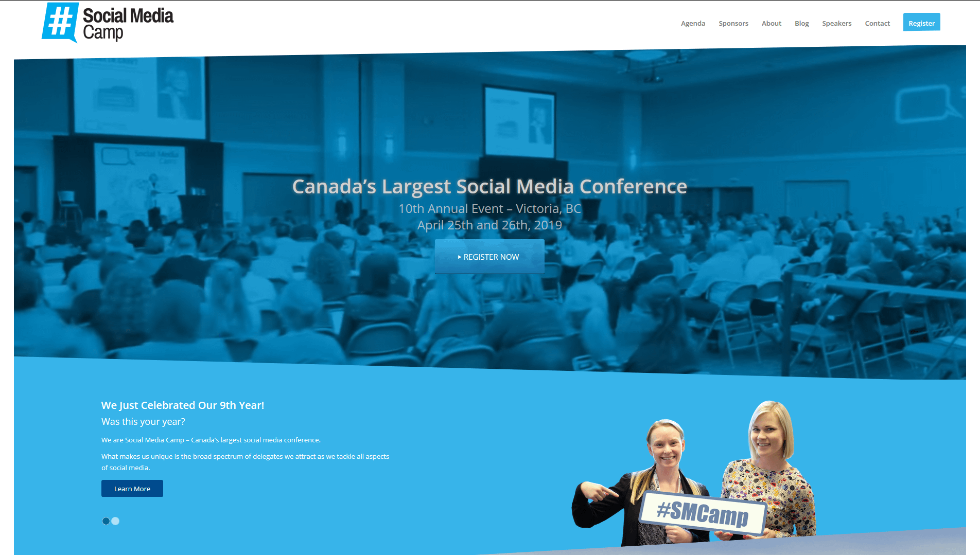 Now in it's 9th year Social Media Camp is one of the best social media conferences