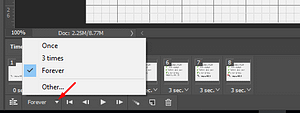 Make animated GIFs with variable looping options in Photoshop