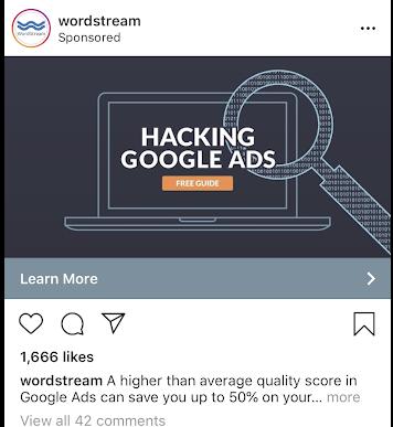 Instagram ads Wordstream