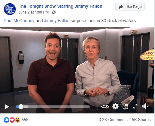 Paul McCartney on the Fallon show