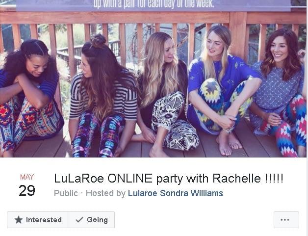 LuLaRoe Facebook Live party