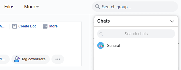 Your Chats tab.