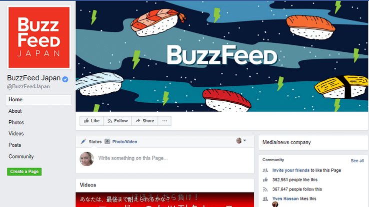 Managing an international follower base - BuzzFeed Japanese page