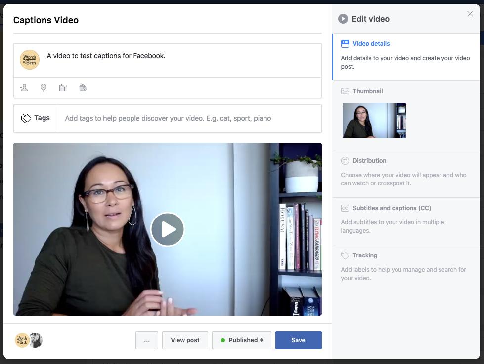 Edit Facebook video