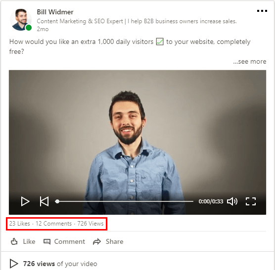 LinkedIn video marketing 2