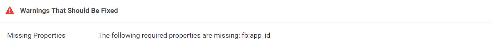 missing fb app id